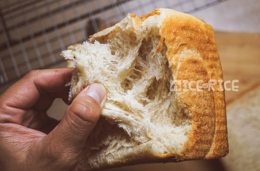 Inside of Japanese milk bread